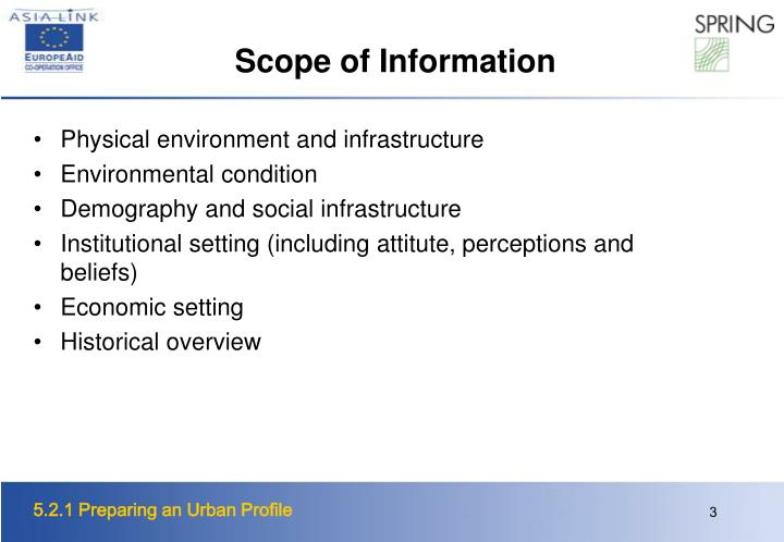 Scope of Information