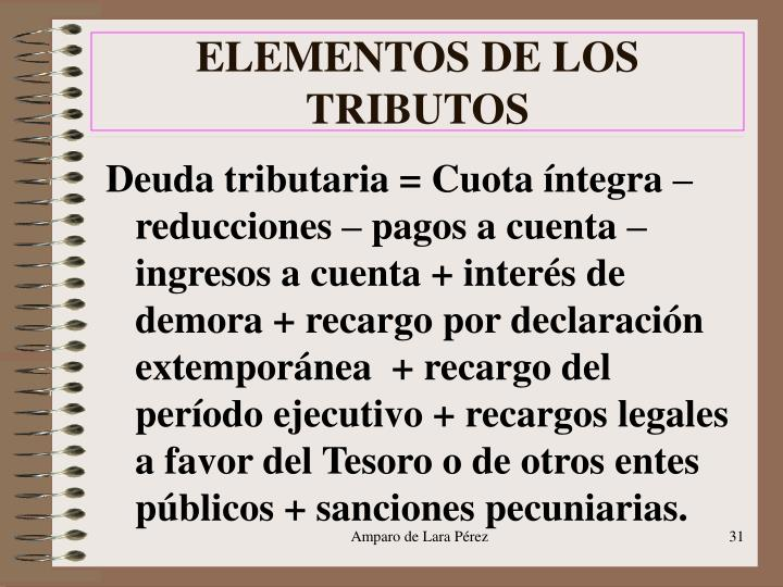 ELEMENTOS DE LOS TRIBUTOS