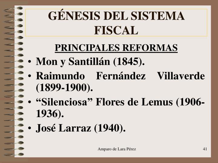 GÉNESIS DEL SISTEMA FISCAL