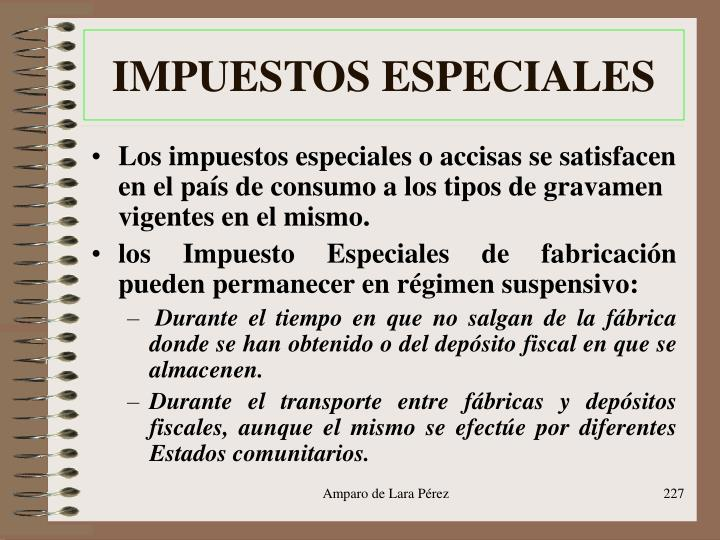 IMPUESTOS ESPECIALES