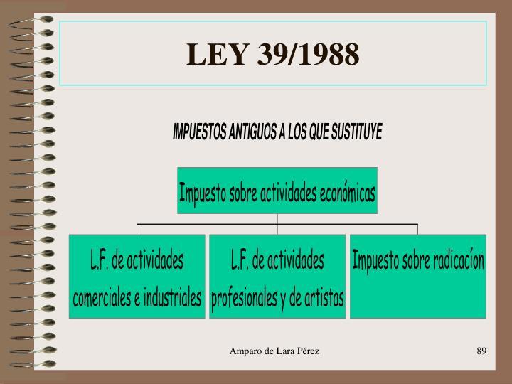 LEY 39/1988