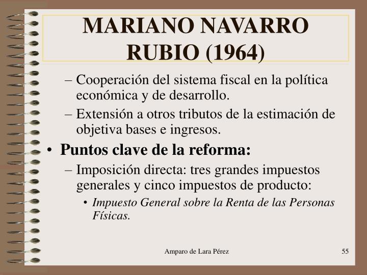 MARIANO NAVARRO RUBIO (1964)
