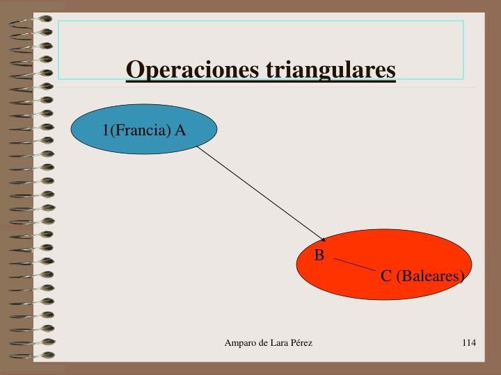 Operaciones triangulares