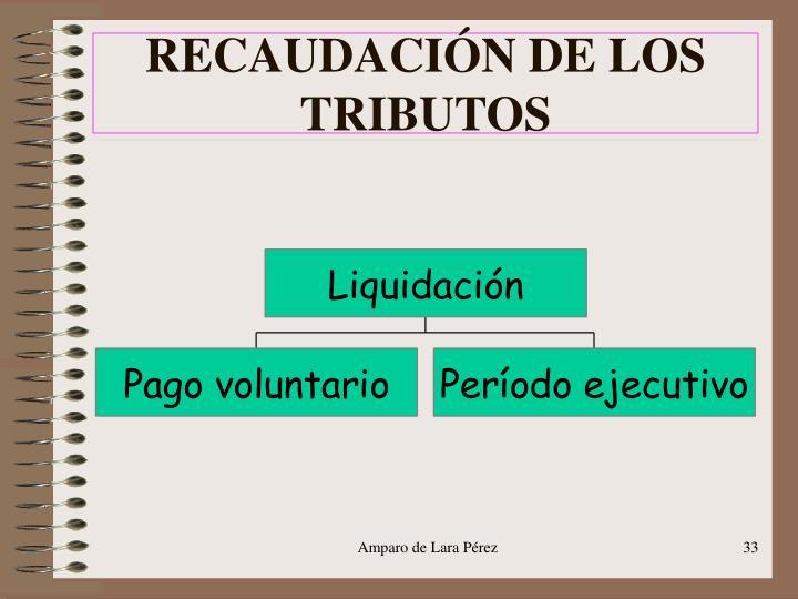 RECAUDACIÓN DE LOS TRIBUTOS