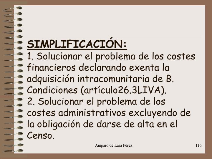 SIMPLIFICACIÓN: