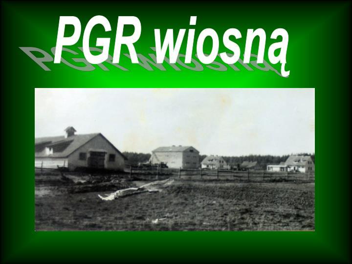 PGR wiosną