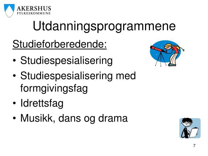 Utdanningsprogrammene