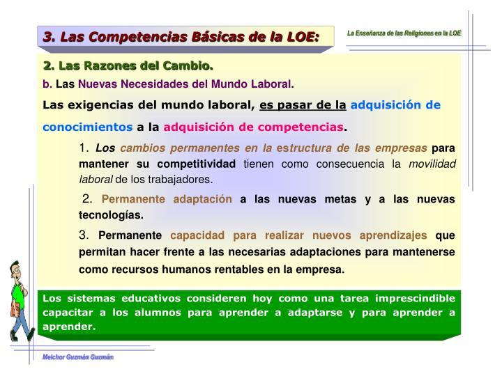 3. Las Competencias Básicas de la LOE: