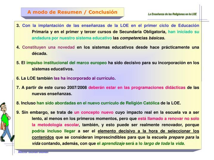 A modo de Resumen / Conclusión