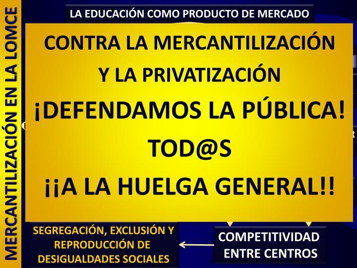 LA EDUCACIÓN COMO PRODUCTO DE MERCADO