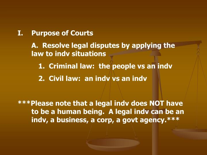 Purpose of Courts