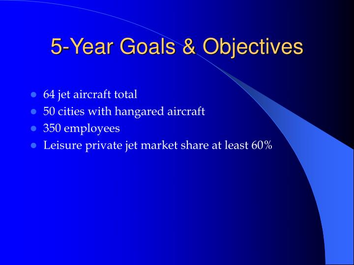 5-Year Goals & Objectives