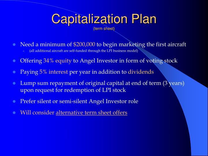 Capitalization Plan