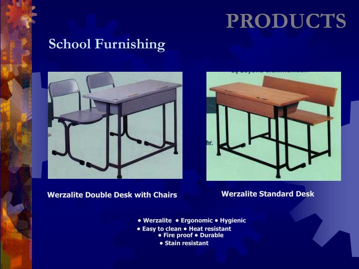 Werzalite Double Desk with Chairs