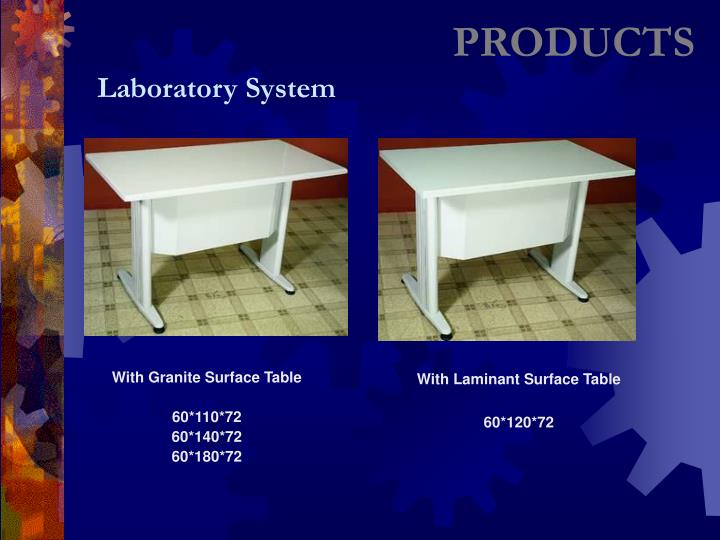 With Granite Surface Table