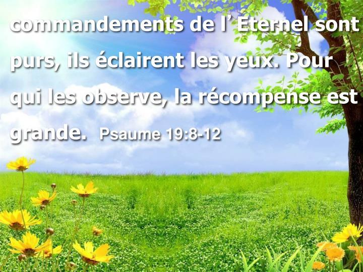 commandements de l
