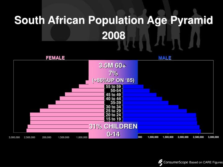 South African Population Age Pyramid
