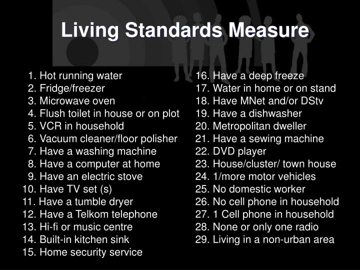 Living Standards Measure