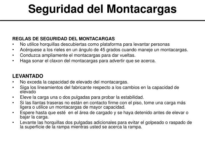 Seguridad del Montacargas