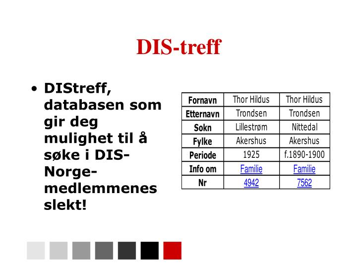 DIS-treff