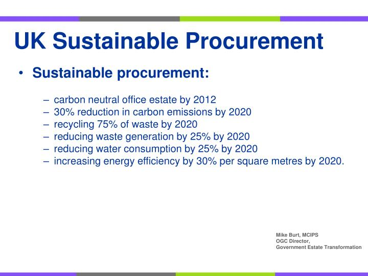 UK Sustainable Procurement
