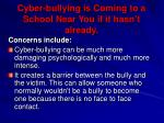 cyber bullying is coming to a school near you if it hasn t already