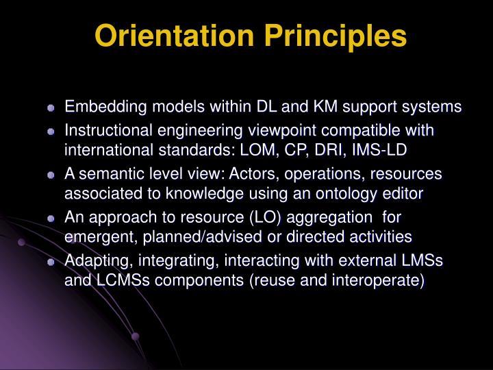 Orientation Principles