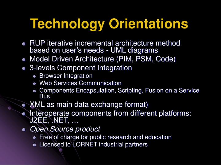 Technology Orientations