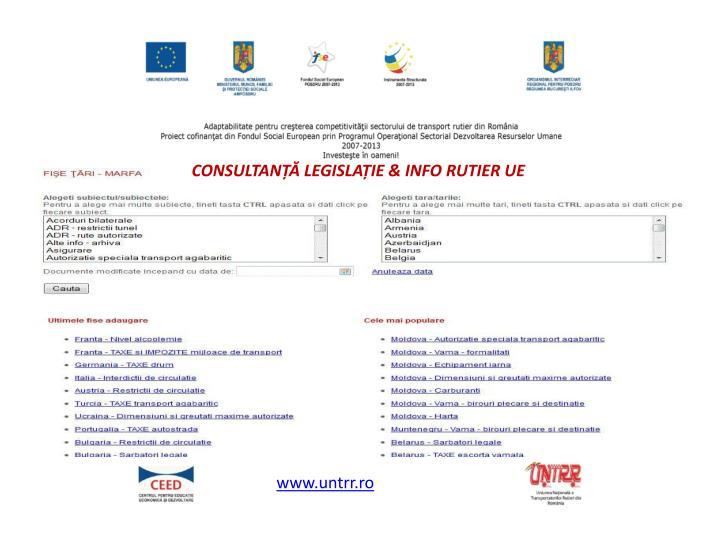 CONSULTANȚĂ LEGISLAȚIE & INFO RUTIER UE