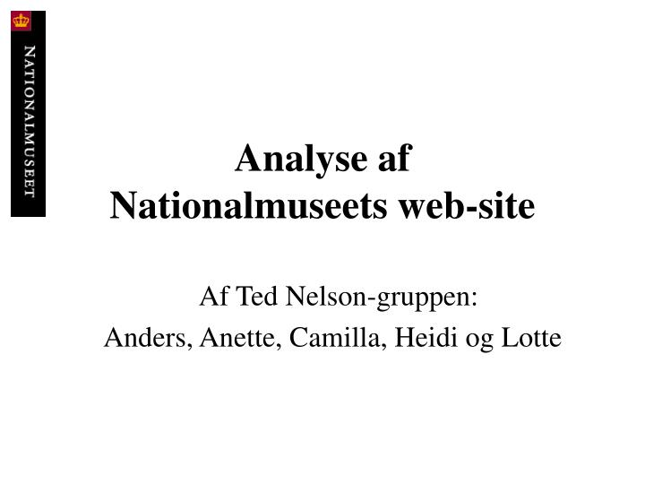Analyse af nationalmuseets web site