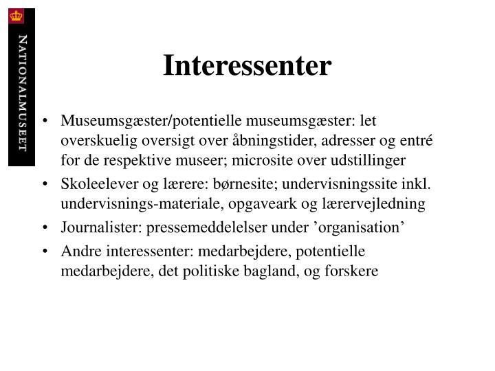 Interessenter