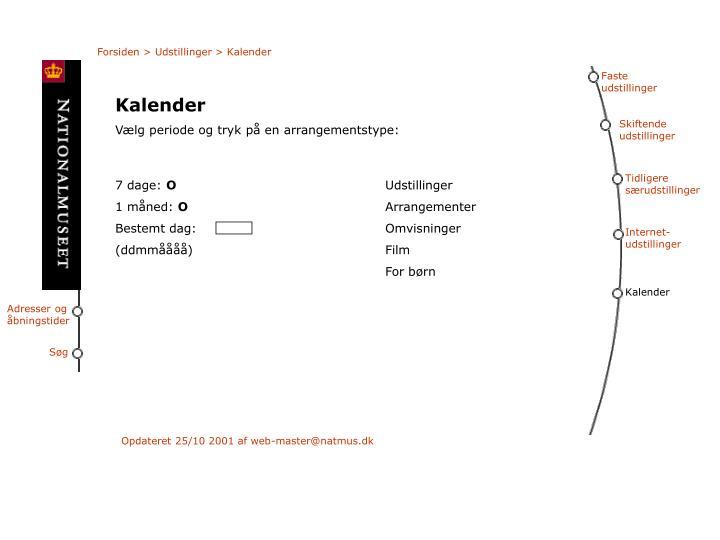 Forsiden > Udstillinger > Kalender