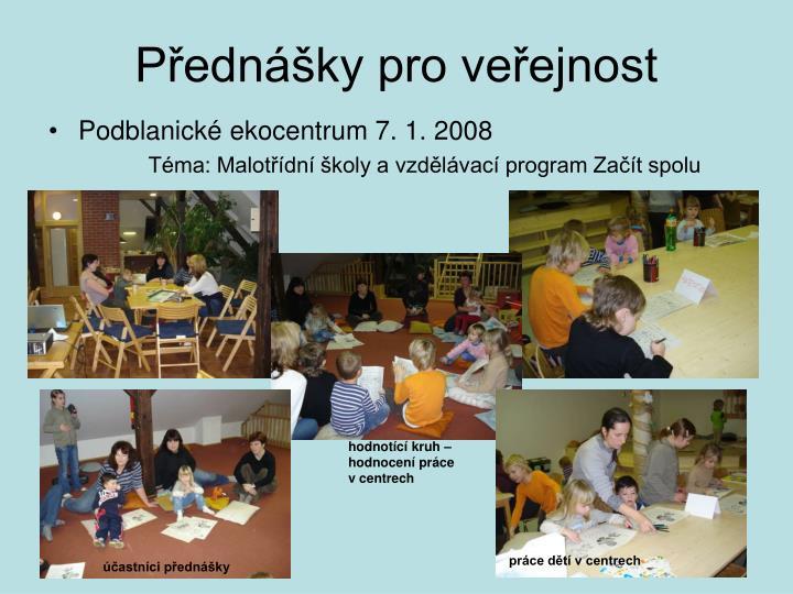 Přednášky pro veřejnost