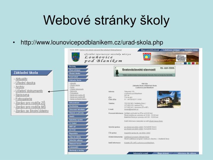 Webové stránky školy