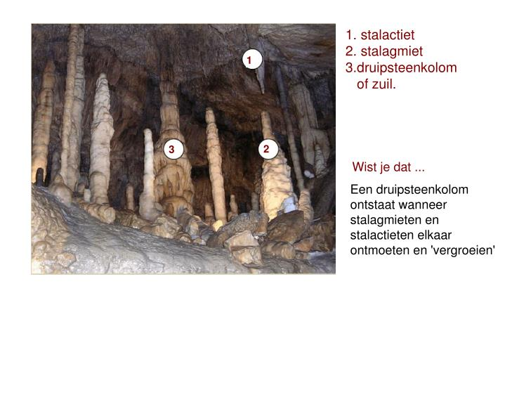 1. stalactiet