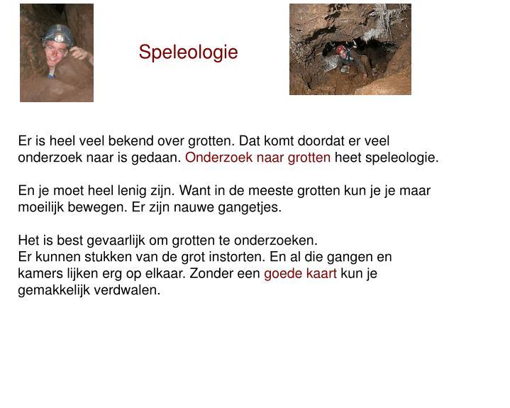 Speleologie