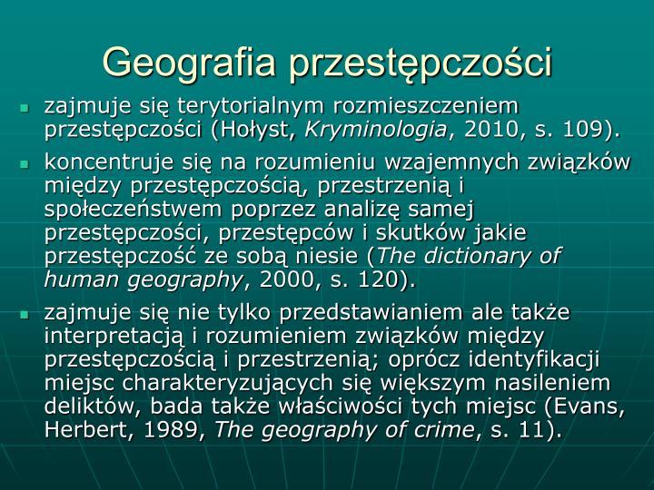 Geografia przestępczości