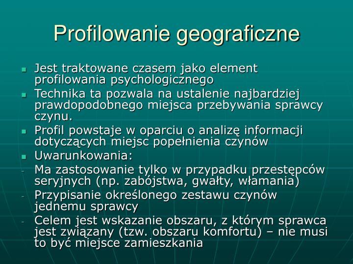 Profilowanie geograficzne