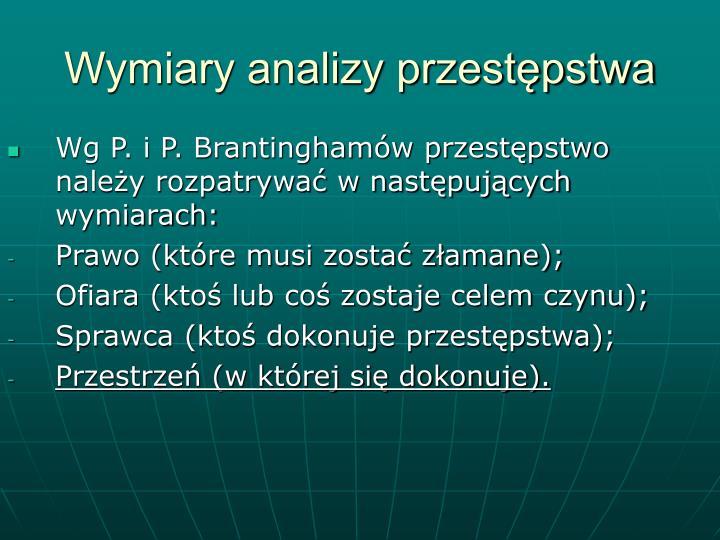 Wymiary analizy przestępstwa
