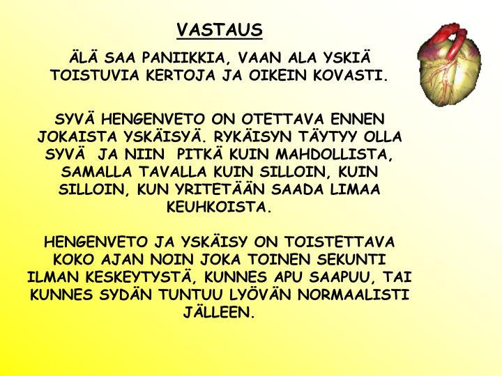 VASTAUS