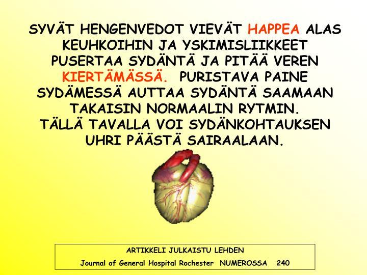 SYVÄT HENGENVEDOT VIEVÄT