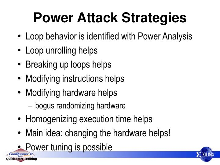 Power Attack Strategies