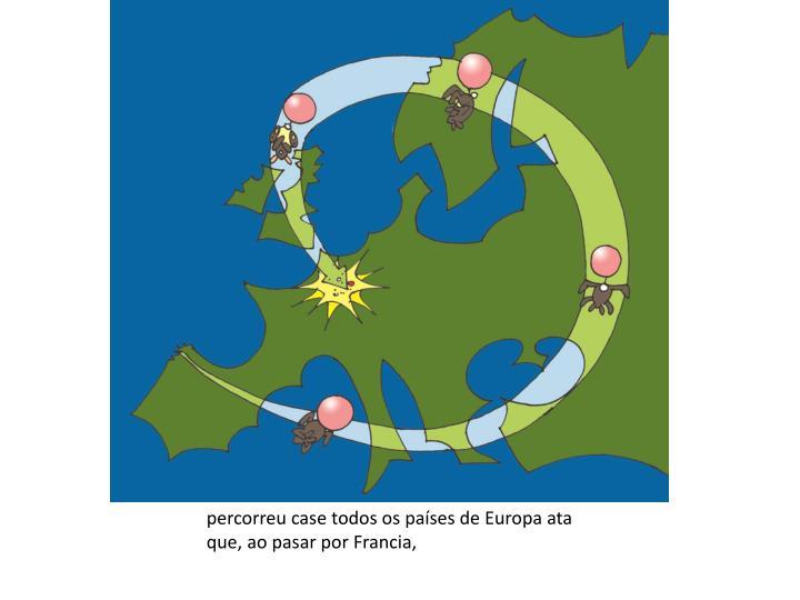 percorreu case todos os países de Europa ata que, ao pasar por Francia,