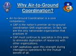 why air to ground coordination