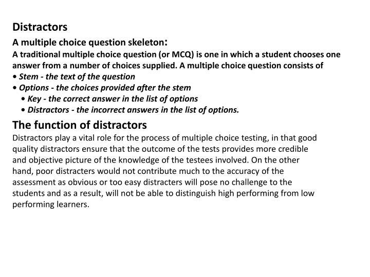 Distractors