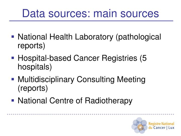 National Health Laboratory (pathological reports)