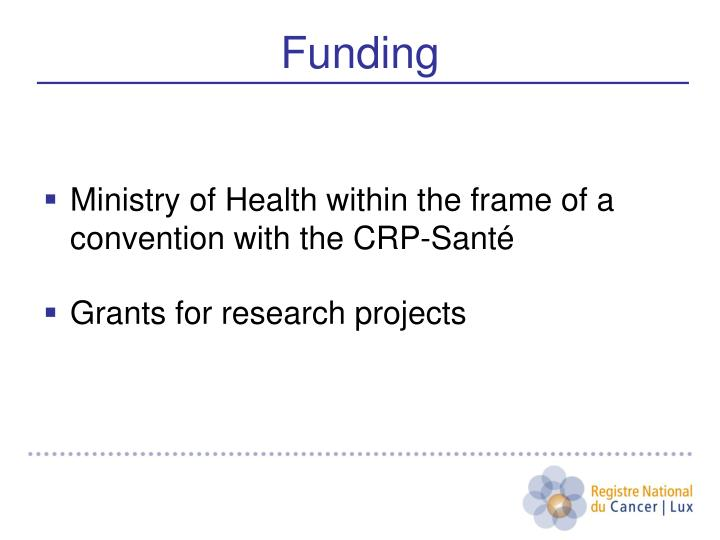 Ministry of Health within the frame of a convention with the CRP-Santé
