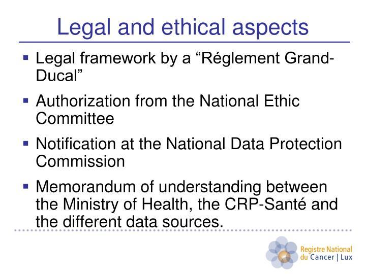 """Legal framework by a """"Réglement Grand-Ducal"""""""