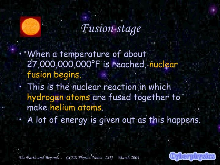 Fusion stage