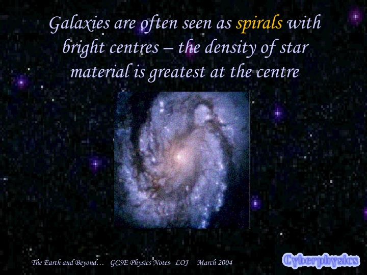 Galaxies are often seen as